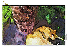 The Sleeping Cat And The Dead Tree Fern Carry-all Pouch