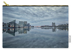 Carry-all Pouch featuring the photograph The Sliver Of Sunrise by Mark Dodd