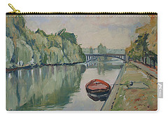 The Small Boat Along The Quai Of Halage Vise Carry-all Pouch