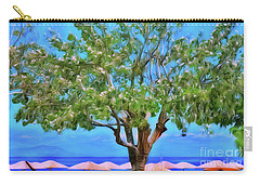 Carry-all Pouch featuring the photograph The Smiling Tree Of Benitses by Leigh Kemp