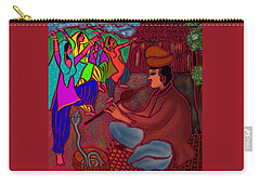 Carry-all Pouch featuring the digital art The Snake Charmer by Latha Gokuldas Panicker