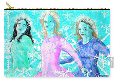 The Snowflake Ladies Carry-all Pouch
