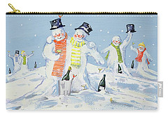 The Snowmen's Party Carry-all Pouch by David Cooke