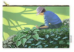 The Solace Of The Shade Garden Carry-all Pouch by Gary Giacomelli