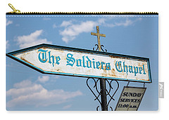 The Soldiers Chapel Sign Carry-all Pouch