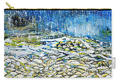 Carry-all Pouch featuring the painting The Sound Of The Rain by Evelina Popilian