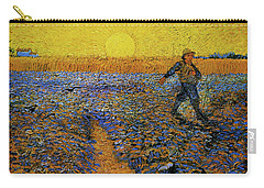 Carry-all Pouch featuring the painting The Sower by Van Gogh