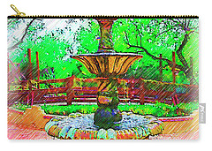The Spanish Courtyard Fountain Carry-all Pouch by Kirt Tisdale