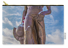 The Spartan Statue Michigan State Carry-all Pouch by John McGraw