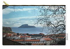 Carry-all Pouch featuring the photograph The Split Rock Of Terceira by Kelly Hazel