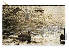 The Spot-billed Pelican Or Grey Pelican  Pelecanus Philippensis  Carry-all Pouch