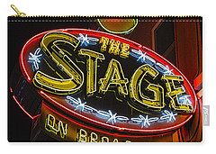 The Stage On Broadway Carry-all Pouch by Stephen Stookey