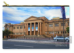 Carry-all Pouch featuring the photograph The State Library Of New South Wales By Kaye Menner by Kaye Menner