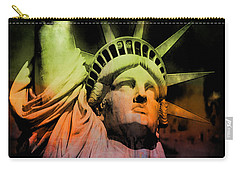 Carry-all Pouch featuring the digital art The Statue Of Liberty by Kim Gauge