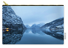 Carry-all Pouch featuring the photograph The Stillness Of The Sea by David Chandler