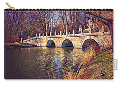 Carry-all Pouch featuring the photograph The Stone Bridge In Lazienki Park Warsaw  by Carol Japp