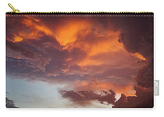 Carry-all Pouch featuring the photograph The Storm Blower by Ken Stanback