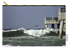 Carry-all Pouch featuring the photograph The Storm  by Debra Forand