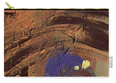 Carry-all Pouch featuring the mixed media The Storm Is Passing Over by Angela L Walker