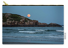 The Strawberry Moon Rising Over Good Harbor Beach Gloucester Ma Island Carry-all Pouch