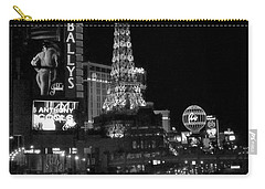 The Strip By Night B-w Carry-all Pouch