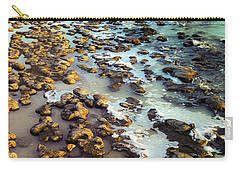 Carry-all Pouch featuring the photograph The Stromatolite Family Enjoying Its 1277500000000th Sunset by T Brian Jones