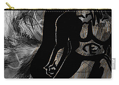 Carry-all Pouch featuring the drawing The Struggle Within by Sheila Mcdonald