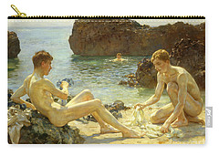 The Sun Bathers Carry-all Pouch by Henry Scott Tuke