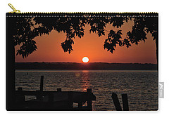 Carry-all Pouch featuring the photograph The Sun Rises Over The Bay by Mark Dodd