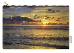 Carry-all Pouch featuring the photograph The Sun Sets Softly In Molokai by Tara Turner