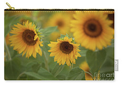 The Sunflowers In The Field Carry-all Pouch