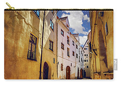 Carry-all Pouch featuring the photograph The Sunny Streets Of Old Riga  by Carol Japp