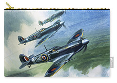 The Supermarine Spitfire Mark Ix Carry-all Pouch by Wilfred Hardy