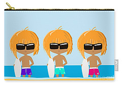 The Surfing Triplets Carry-all Pouch