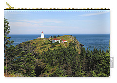 Carry-all Pouch featuring the photograph The Swallowtail Lightstation by Gary Hall