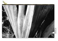 Carry-all Pouch featuring the photograph The Swoop Of Fallen Wood by Lorraine Devon Wilke