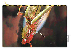 Carry-all Pouch featuring the sculpture The Sword Of St. Michael by Dave Luebbert