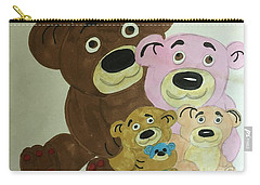 The Teddy Family  Carry-all Pouch