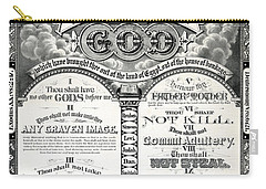The Ten Commandments 1876 Vintage Poster Restored Carry-all Pouch
