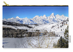 The Tetons From Gros Ventre Valley Carry-all Pouch