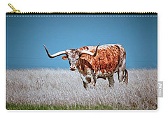 Carry-all Pouch featuring the photograph The Texas Longhorn by Linda Unger