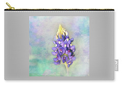 Carry-all Pouch featuring the photograph The Texas State Flower The Bluebonnet by David and Carol Kelly