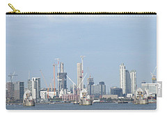 Carry-all Pouch featuring the photograph The Thames Flood Barriers - East London by Mudiama Kammoh