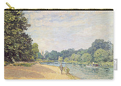 The Thames With Hampton Church Carry-all Pouch by Alfred Sisley