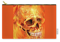 Flaming Skull Carry-all Pouch