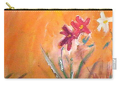 Carry-all Pouch featuring the painting The Three Daisies by Winsome Gunning