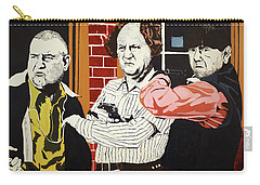 Carry-all Pouch featuring the painting The Three Stooges by Thomas Blood