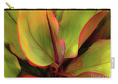 Carry-all Pouch featuring the photograph The Ti Leaf Plant In Hawaii by D Davila