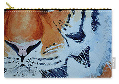 Carry-all Pouch featuring the painting The Tiger by Steven Ponsford