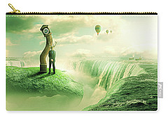 Carry-all Pouch featuring the digital art The Time Keeper by Nathan Wright